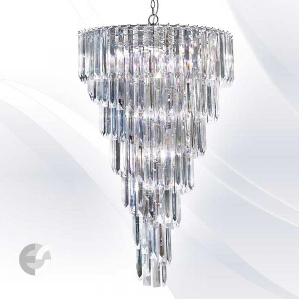 SIGMA 7999-9CC candelabre cristal diametru 67 cm 9 becuri 0