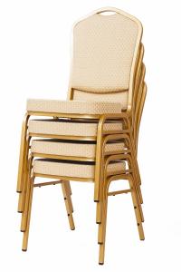 MXT ST314 scaune pentru conferinta si training  suprapozabile cadru auriu [5]