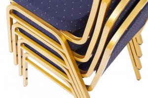 MXT ST370 scaune pentru conferinta si training suprapozabile cadru auriu [4]