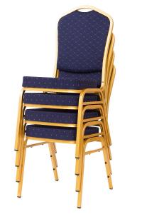 MXT ST370 scaune pentru conferinta si training suprapozabile cadru auriu [5]