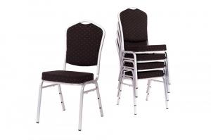 MXT ST390 scaune pentru evenimente si conferinta suprapozabile cadru argintiu4