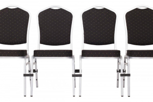 MXT ST390 scaune pentru evenimente si conferinta suprapozabile cadru argintiu5