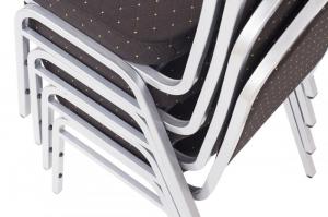 MXT ST390 scaune pentru evenimente si conferinta suprapozabile cadru argintiu6