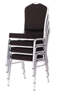 MXT ST390 scaune pentru evenimente si conferinta suprapozabile cadru argintiu7