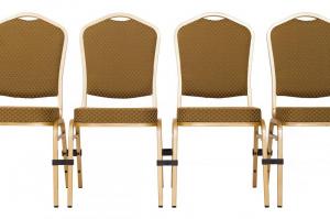 MXT ST633 scaune pentru evenimente si conferinta suprapozabile cadru auriu4