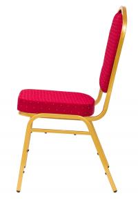 MXT ST220 scaune pentru evenimente conferinta si training  suprapozabile cadru auriu1