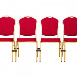 MXT ST220 scaune pentru evenimente conferinta si training  suprapozabile cadru auriu5