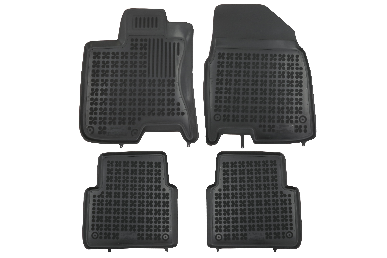 Covorase Presuri Auto Negru din Cauciuc compatibil cu Nissan Qashqai +2 I NJ10 (2008-2013) 0
