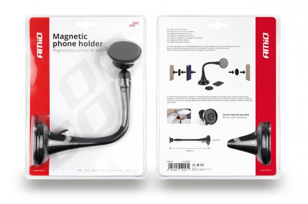 Suport magnetic pentru telefon cu ventuză HOLD-7 lungă 1