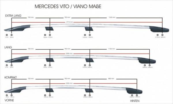 Bari Longitudinale Mercedes Vito 2004 - 2014 1