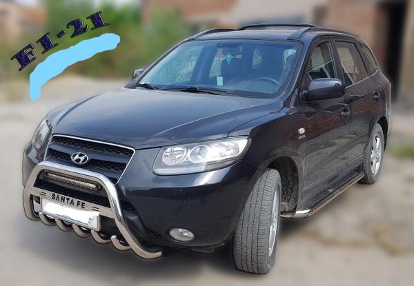 Bullbar inox Hyundai Santa Fe 2007 - 2013 1