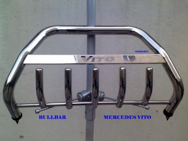 Bullbar inox Mercedes Vito 1996 - 2009 1