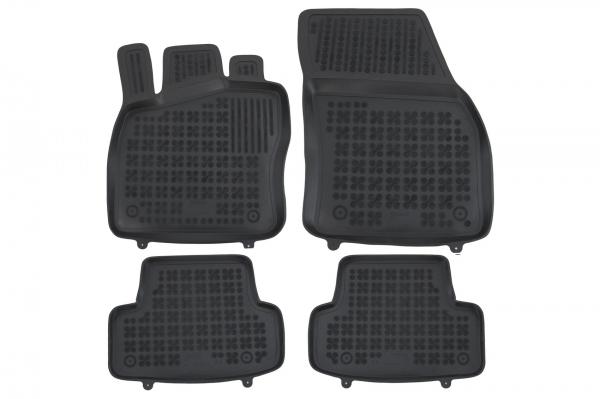 Covorase Presuri Auto Negru din Cauciuc compatibil cu VW T-ROC (2017-Up) 0