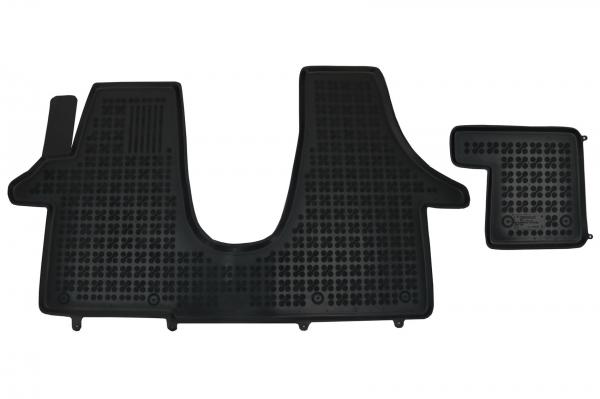 Covorase Presuri Auto Negru din Cauciuc compatibil cu VW Transporter T5 2003 + T6 2015+ 0