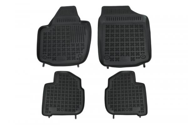 Covorase Presuri Auto Negru din Cauciuc SEAT Toledo 2013-; compatibil cu SKODA Rapid 2012-, Rapid Spaceback 0