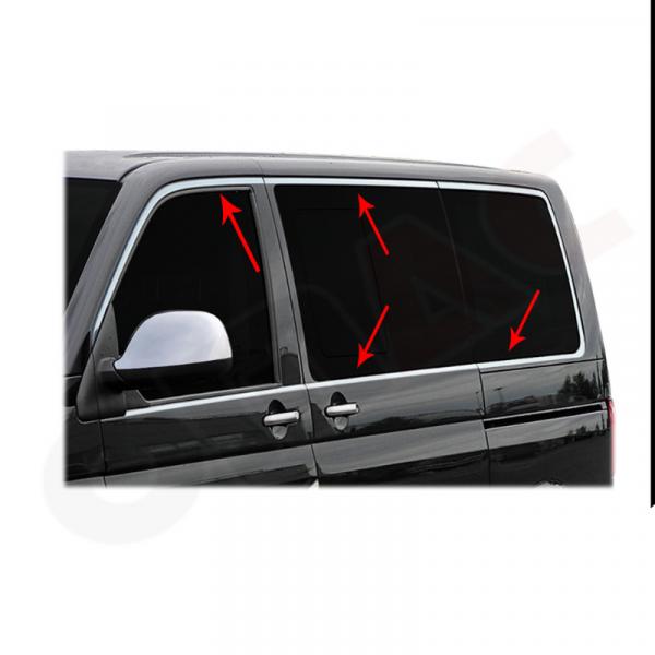 DECOR GEAM INOX VW PASSAT 2005-12, 4 PIESE 0