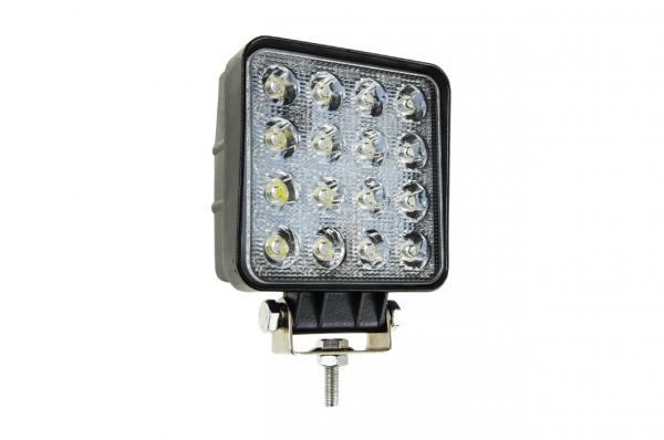 Lampa de lucru 16x LED pătrat 12 / 24V 1