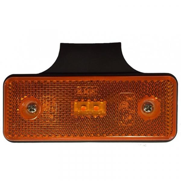 Lampa de gardă portocalie 2xLED 12 / 24V [0]