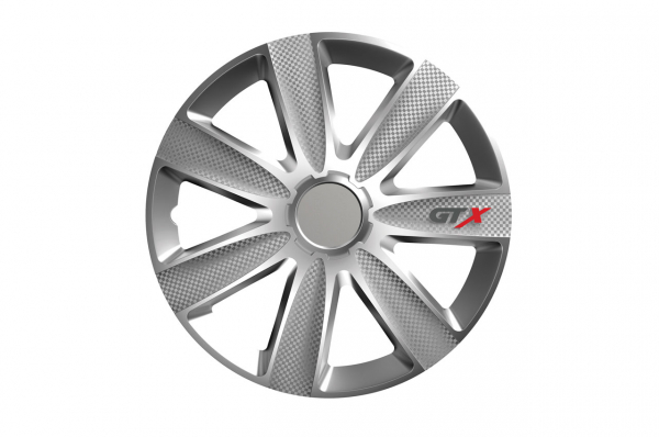 "Capac de butuc de carbon GTX ""argintiu"" 14 "" 0"