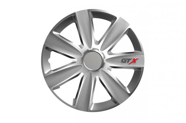 "Capac de butuc de carbon GTX ""argintiu""16'' 0"