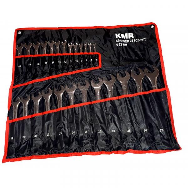 Un set de 24 de chei combinate: 6-32 mm 0
