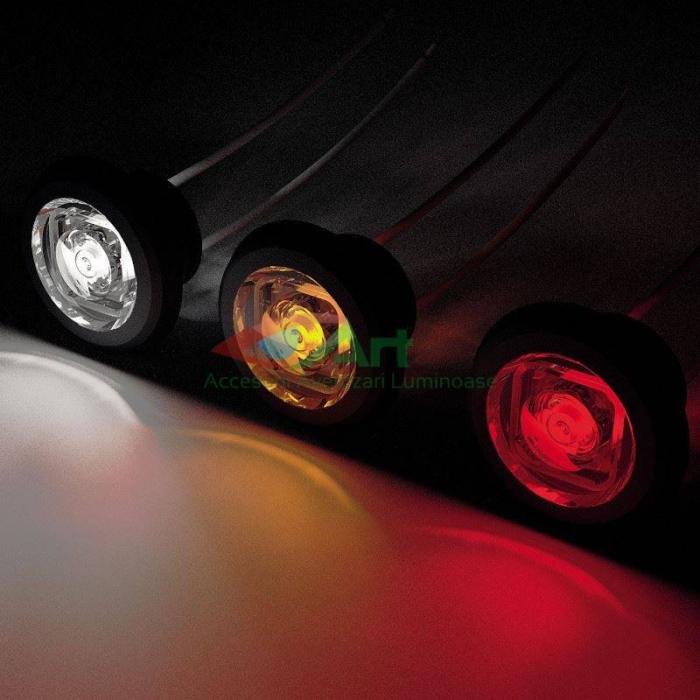 Lampa gabarit LED fi28 incastrabila rosie FT-074C Fristom 5