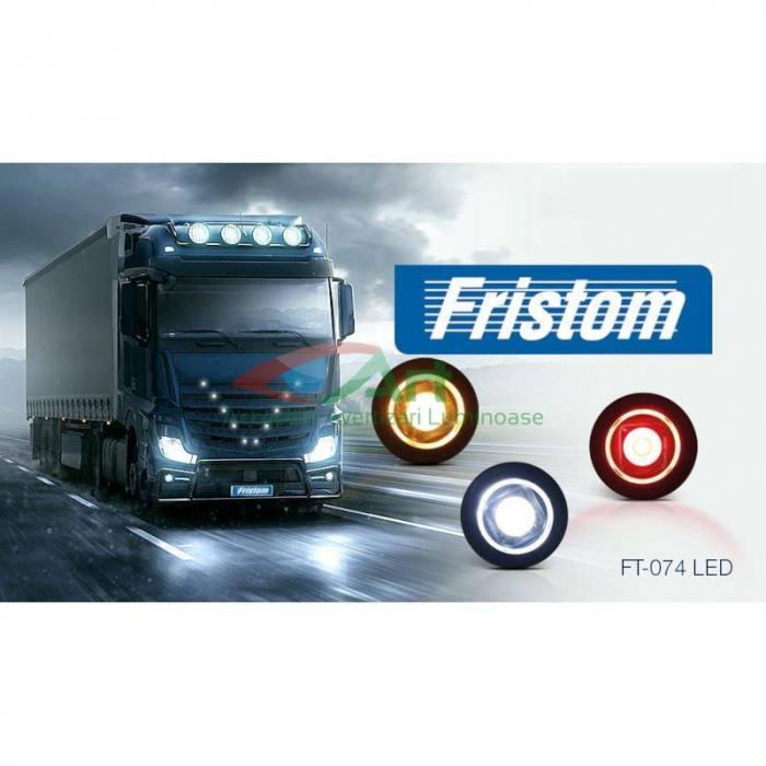 Lampa gabarit LED fi28 incastrabila rosie FT-074C Fristom 2