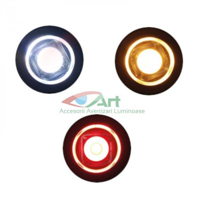 Lampa gabarit LED fi28 incastrabila rosie FT-074C Fristom 4