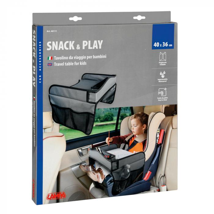 Masuta scaun auto copil pentru calatorie Snack & Play Lampa - Gri [9]
