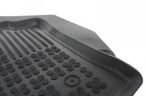 Covorase Presuri Auto Negru din Cauciuc compatibil cu DACIA Dokker Van2012-