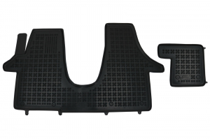 Covorase Presuri Auto Negru din Cauciuc compatibil cu VW Transporter T5 2003 + T6 2015+