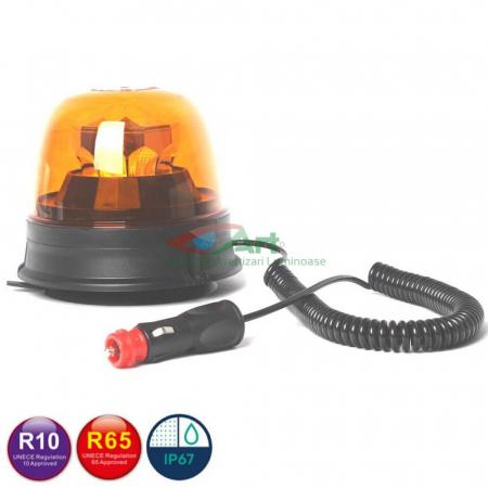 Girofar LED galben FI144 Diamant magnetic/fix0