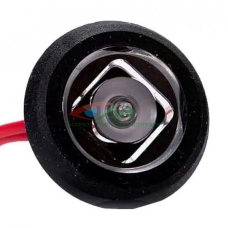 Lampa gabarit LED fi28 incastrabila rosie FT-074C Fristom0