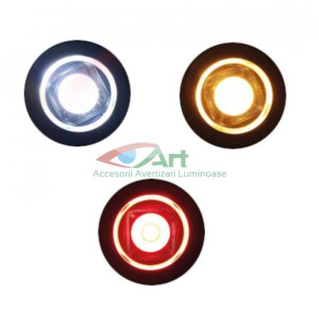 Lampa gabarit LED fi28 incastrabila rosie FT-074C Fristom4