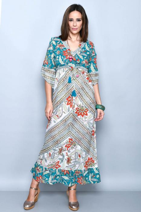 Rochie lunga multicolora - 08.DR-1222 0