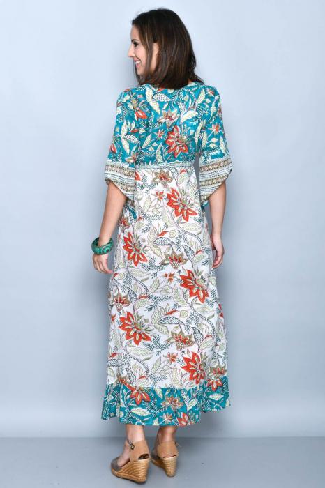 Rochie lunga multicolora - 08.DR-1222 1