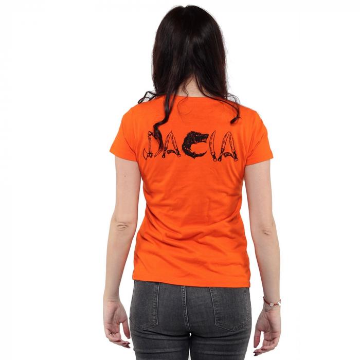 Tricou portocaliu de dama - DACIA [2]