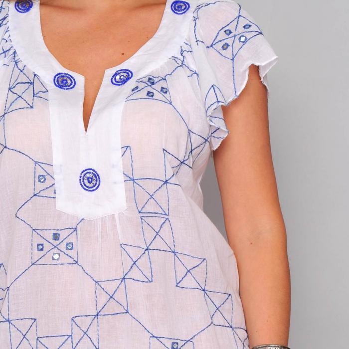 Rochie scurta de vara cu imprimeu geometric 2