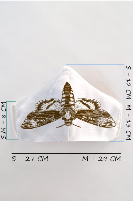 Masca bumbac cu filtru pentru copii - Molie 1