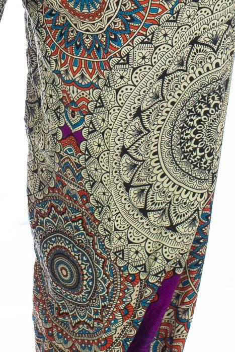 Pantaloni Jasmine cu print oriental - Model 1 1