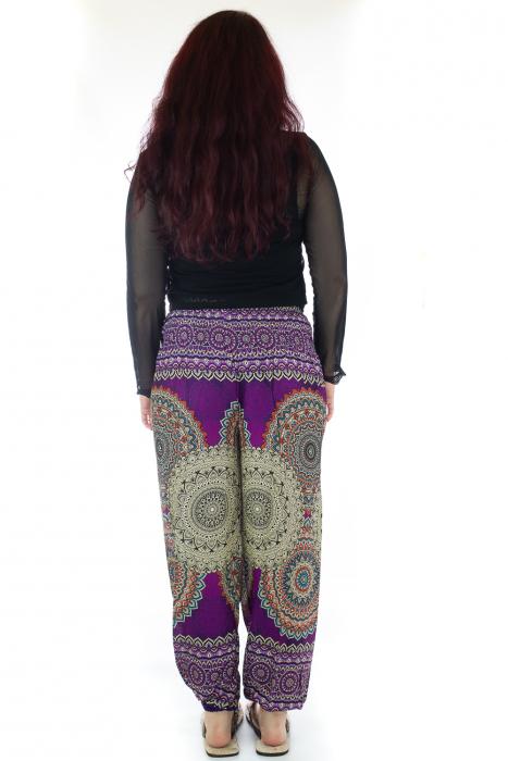 Pantaloni Jasmine cu print oriental - Model 1 3