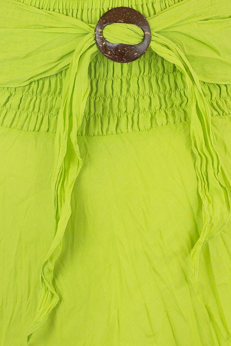 Fusta de vara cu catarama - Verde 1