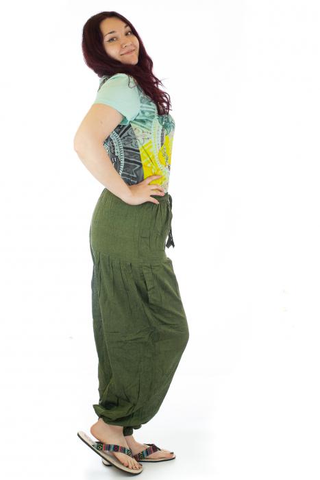 Pantaloni lejeri - Verde petrol 1