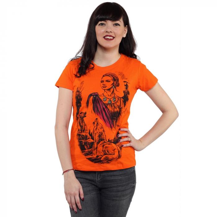 Tricou portocaliu de dama - DACIA [0]
