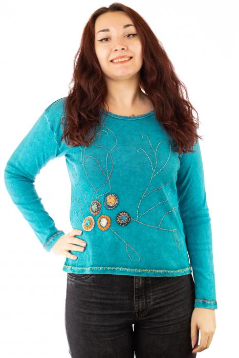 Bluza femei OM cu modele cusute 0