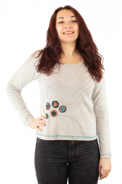 Bluza femei din bumbac cu model OM 0