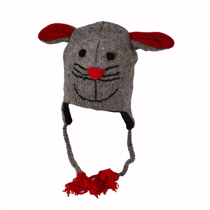 Căciulă din lână copii - ȘORICEL 0