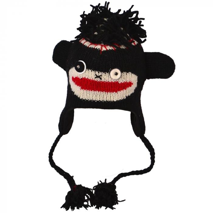Căciula din lână copii - MONKEY 0
