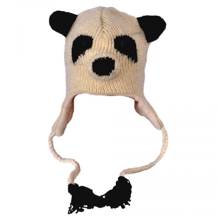 Căciula din lână copii - PANDA 0