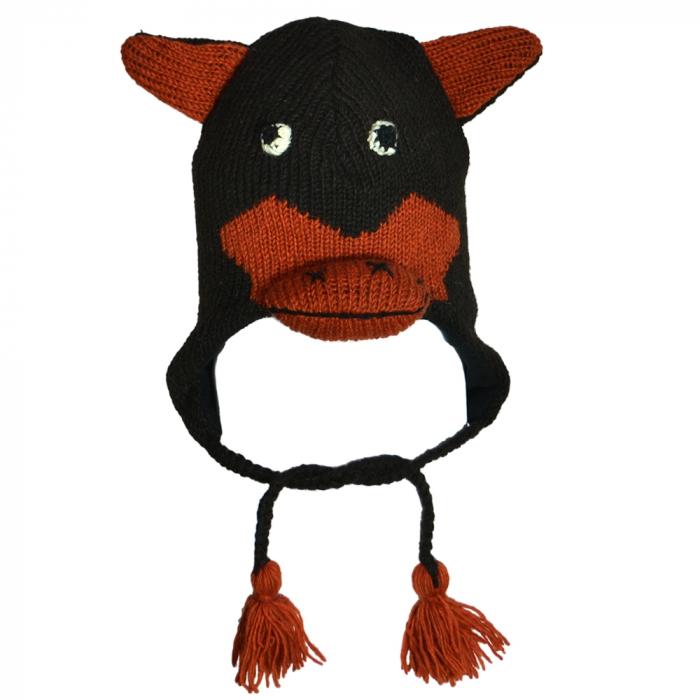 Căciula din lână - FUNNY COW 0